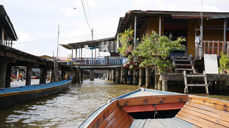 Sightseeing i båt, Kampong Ayer.