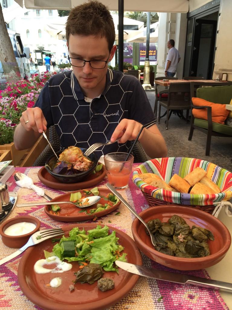 Himmelsk mat i Baku (Azerbaijan).